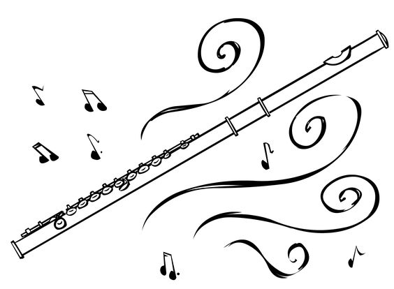 Free Flute Black And White Clipart, Download Free Clip Art.