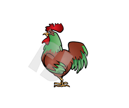Rooster PowerPoint Template, Backgrounds.