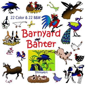 Barnyard Banter, Clipart, Story book clip art, Denise.