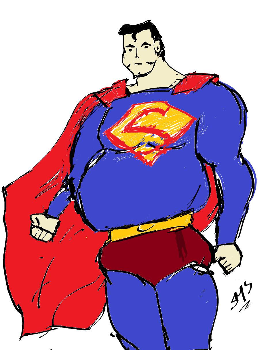 Superman… shouldn\'t he be fat?.