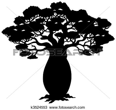 Clipart of Silhouette of tree without leaf 2 k5192175.
