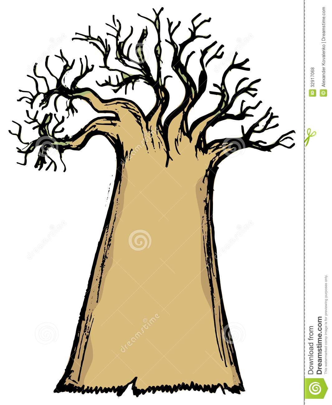 Baobab Royalty Free Stock Photos.