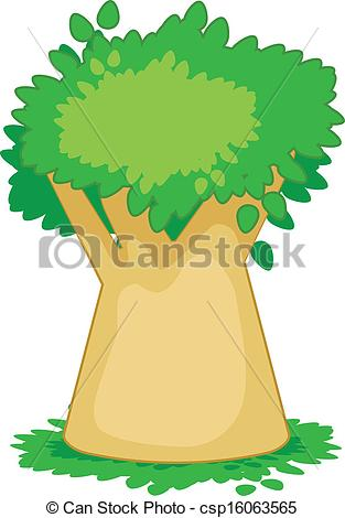 Clip Art Vector of baobab.