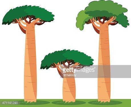 Baobab tree Clipart Image.