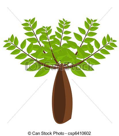 Vector Illustration of Baobab tree illustration.