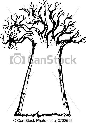 EPS Vectors of baobab.