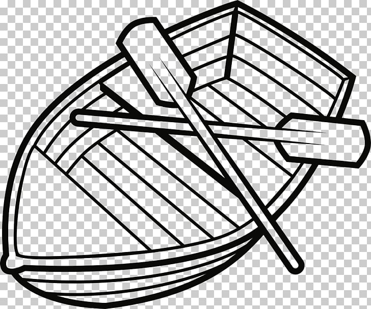 Black and white Boat Drawing Paddle , boat PNG clipart.