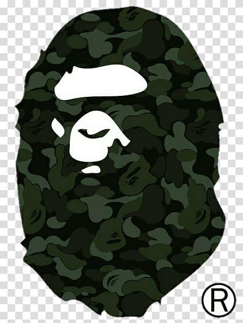 Green and black A Bathing Ape logo, A Bathing Ape Supreme.