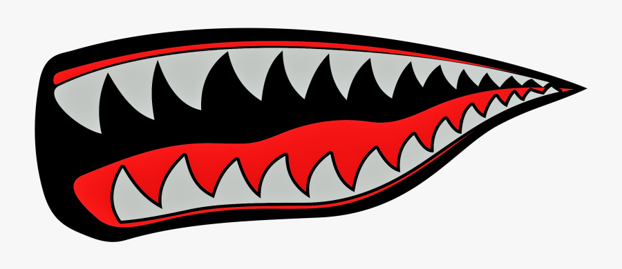Shark Mouth Free Vector Clipart , Png Download.