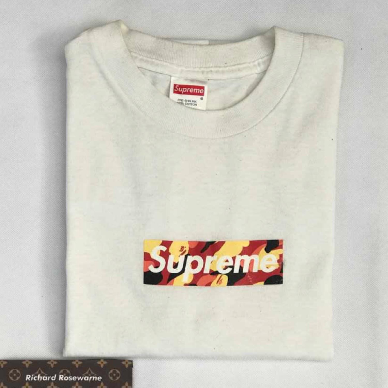 1998 Supreme X Bape Box Logo M.