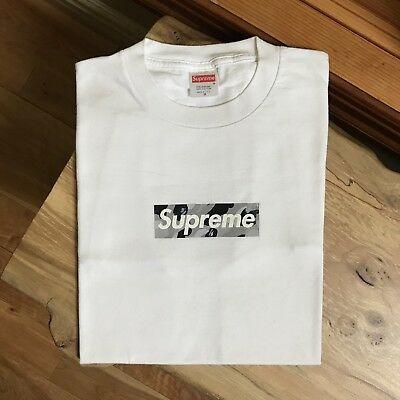 100% authentic Supreme x Bape Gray Camo Box Logo Tee mo wax pink cdg lv  #641.