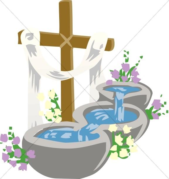 Infant Baptism Clipart.