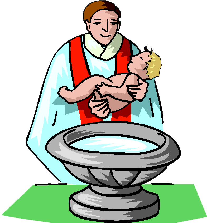 Baby Baptism Clipart.