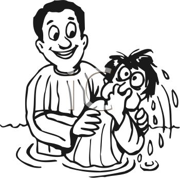 Baptism Clipart Black And White.