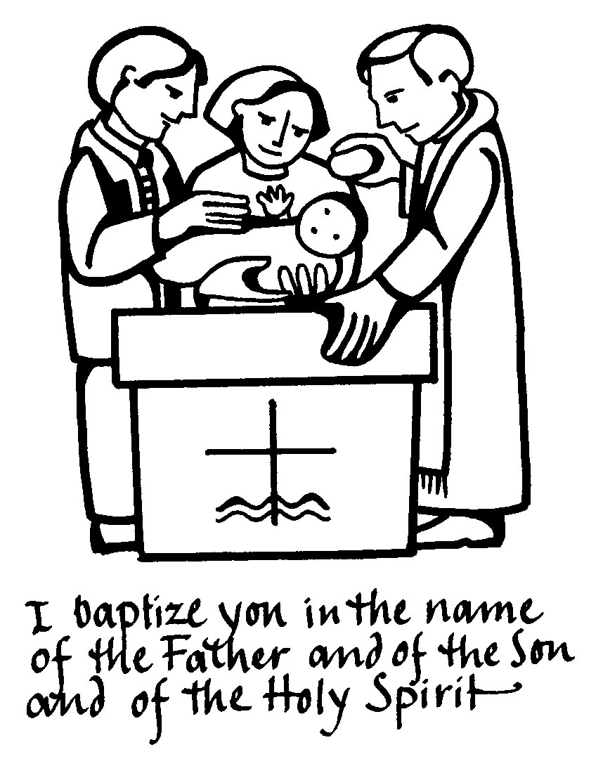 Free Baptism Clipart Black And White, Download Free Clip Art.