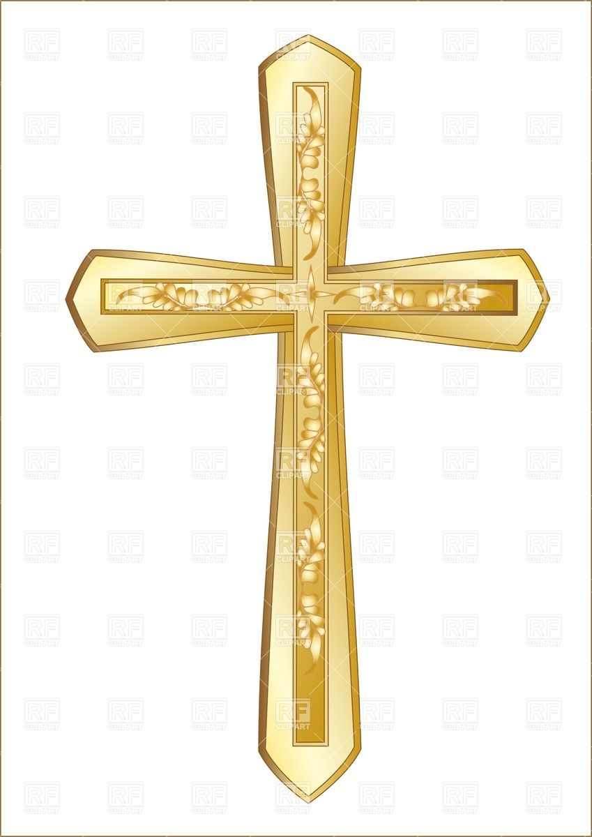 Catholic Cross Clipart Gold.