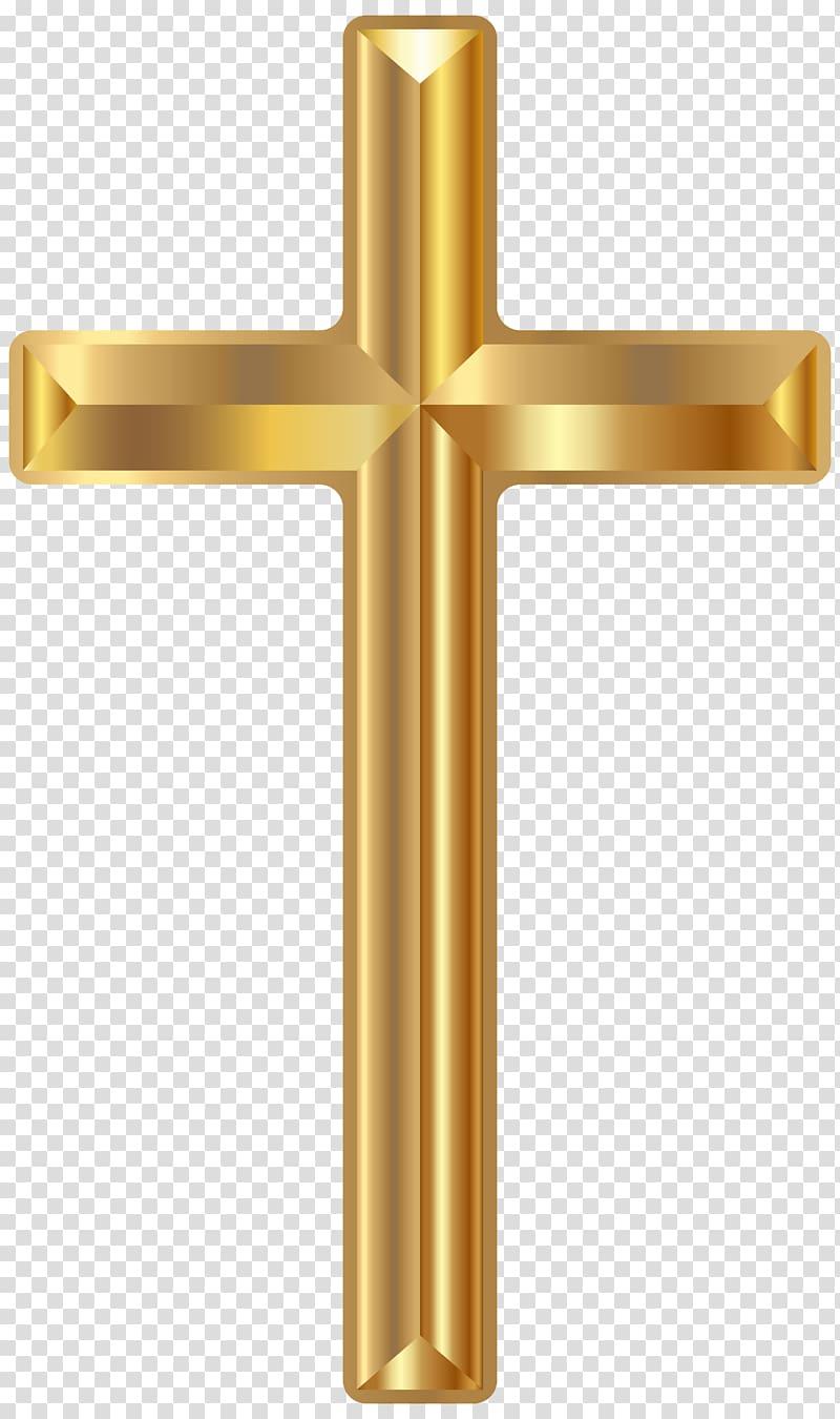 Gold cross illustration, Christian cross Christianity.