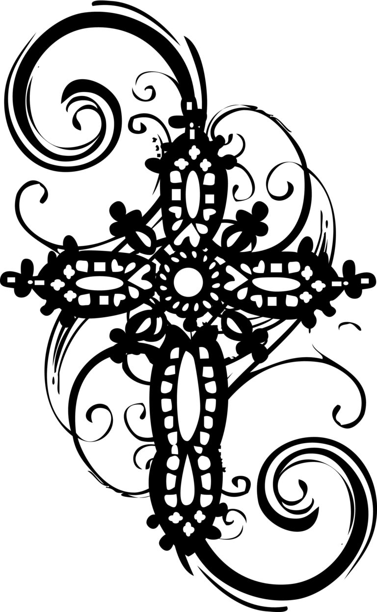 Cross black and white baptism cross clipart black and white.
