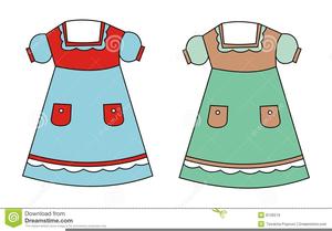 Baptism Dress Clipart.