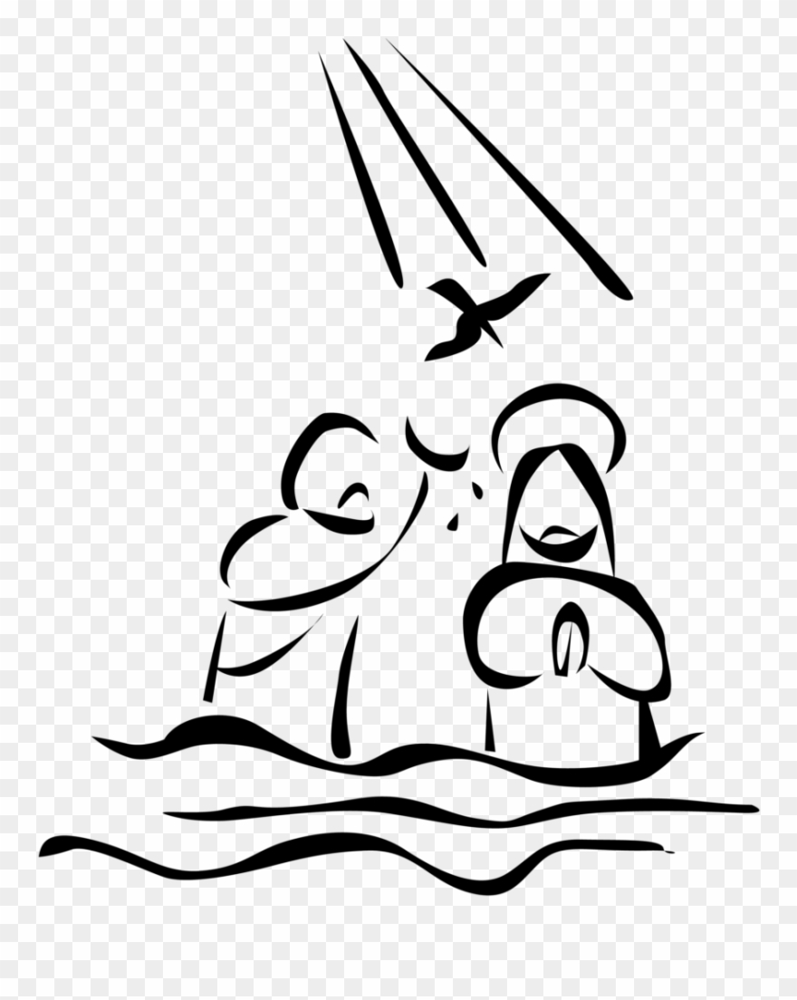 Baptism Of Jesus Drawing Clipart (#1159859).