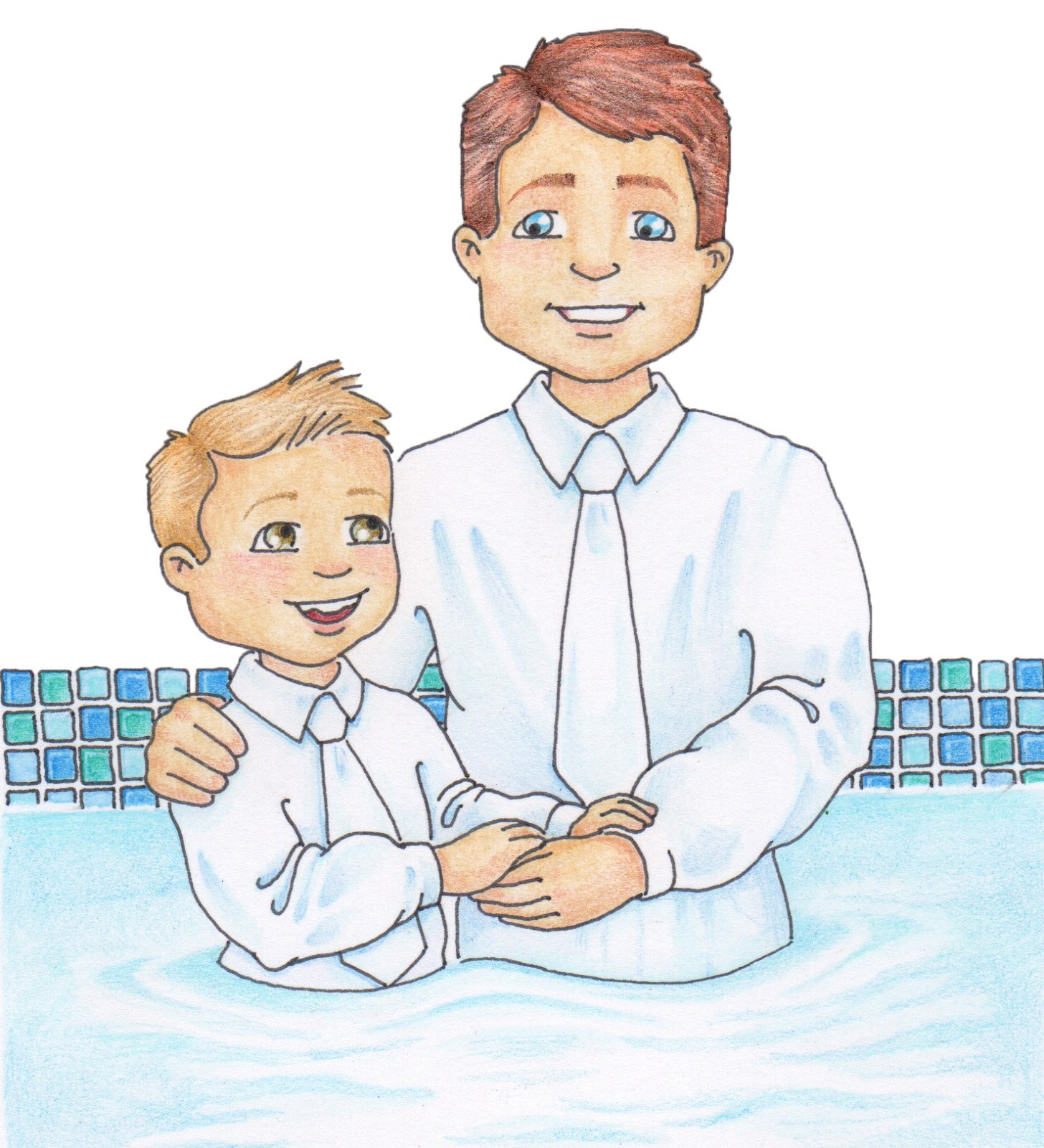 Lds Baptism Clipart.