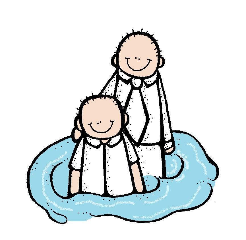 LDS Baptism Clip Art N5 free image.