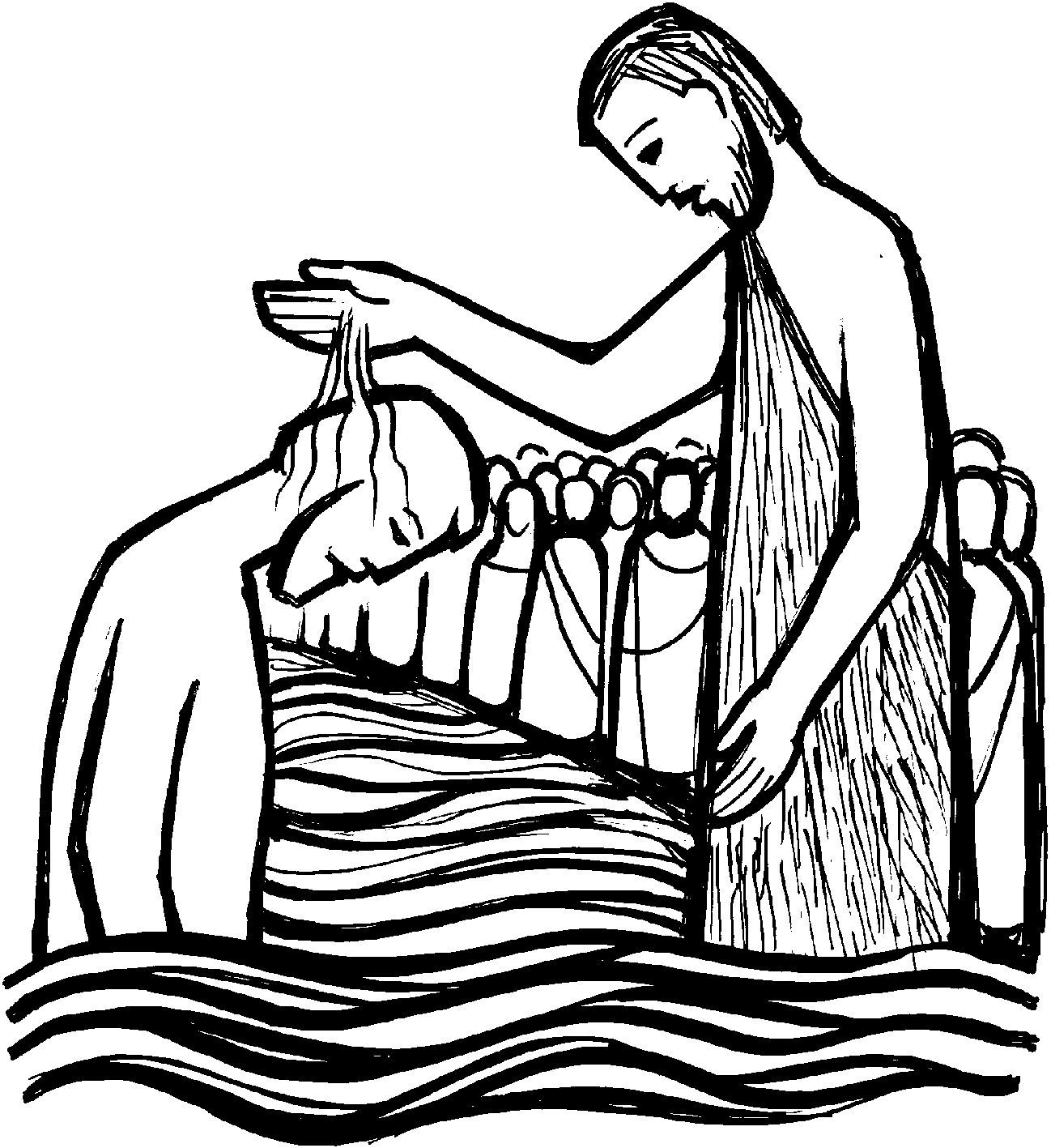 1298x1417 Baptism Of The Lord Clip Art Cliparts.