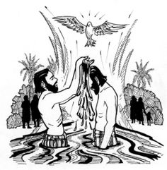 2345 Baptism free clipart.