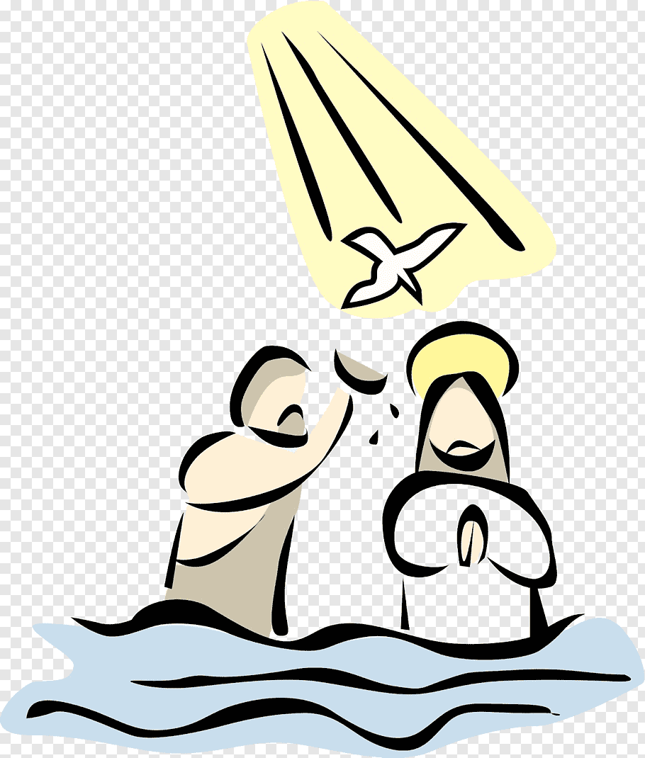 Religious illustration, Baptism of Jesus Baptism of the Lord.