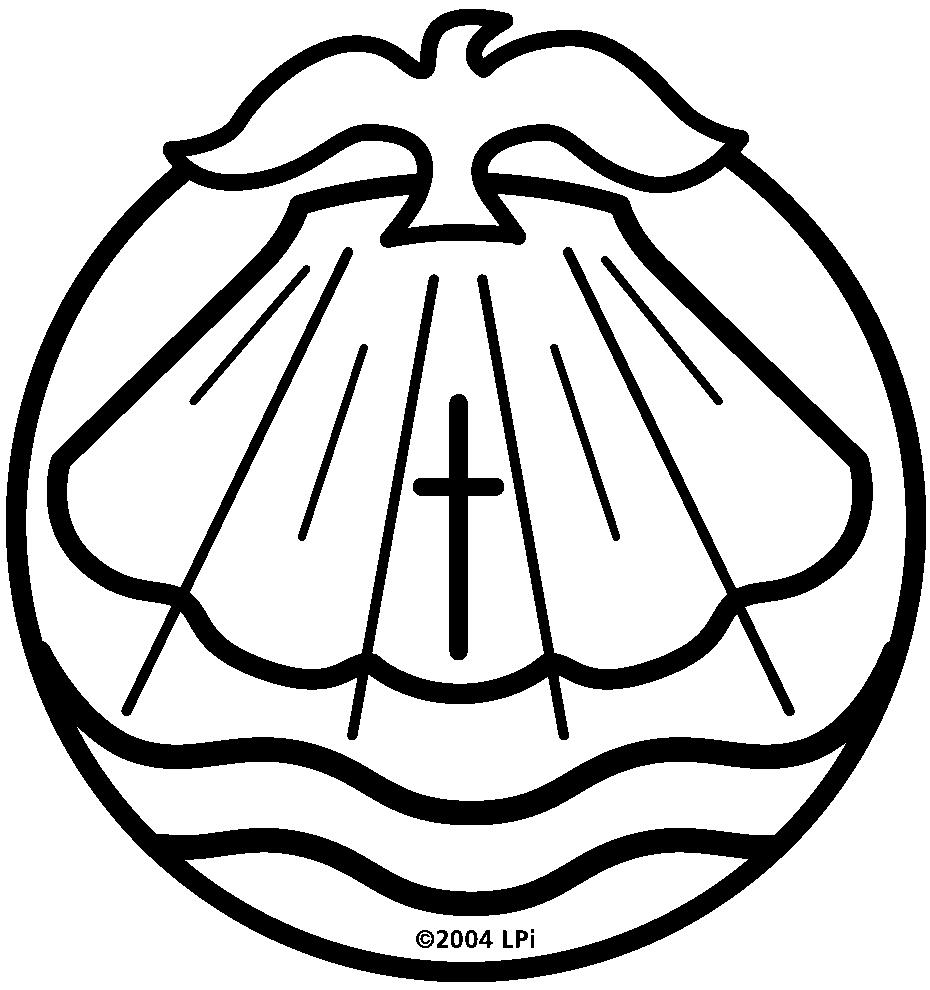 symbols of catholic baptism.