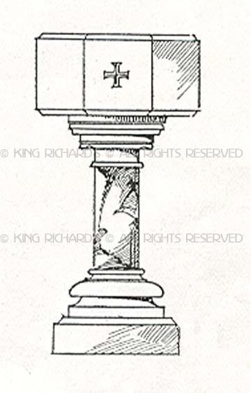 Baptismal font clipart.