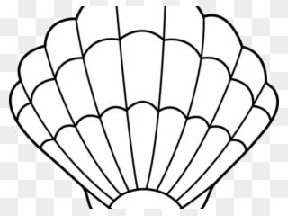 Free PNG Shells Black And White Clip Art Download.