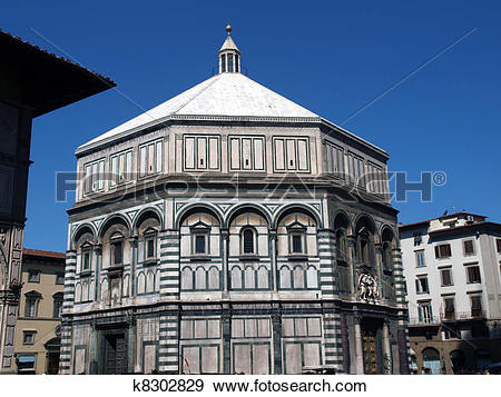 Stock Photograph of The Baptistery of San Giovanni in Florence.