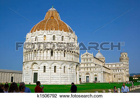 Stock Photo of Baptistery in Pisa k1506792.