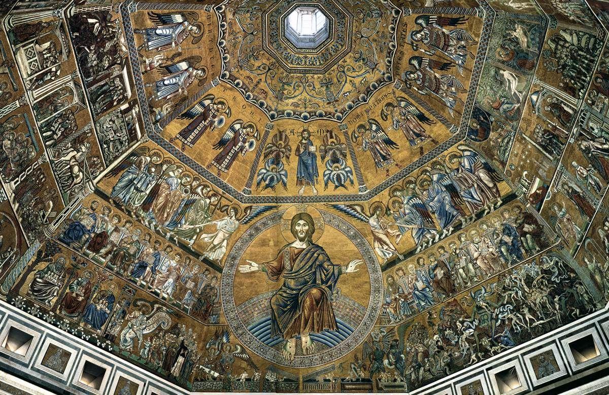 Baptistry of San Giovanni vault.