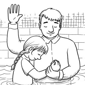 Lds baptism clip art.