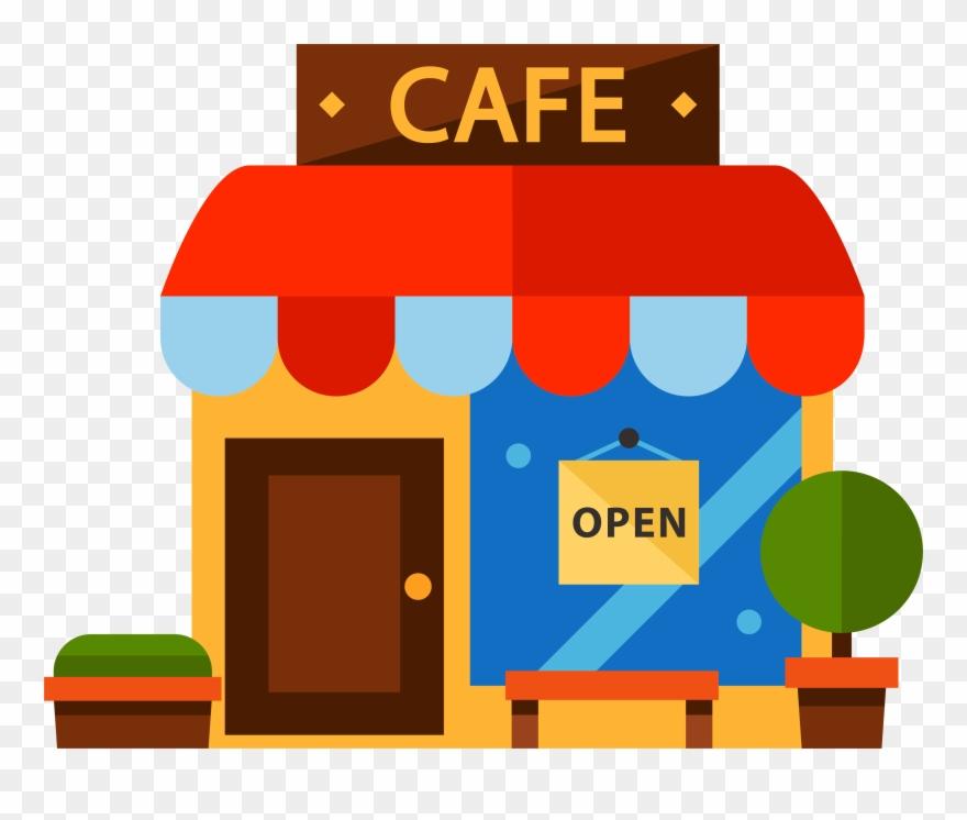 Cafe Restaurant Cartoon Color Transprent.