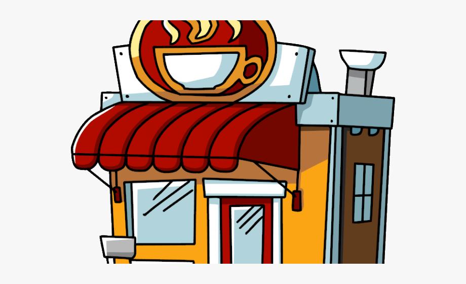 Store Clipart Restaurant Building.