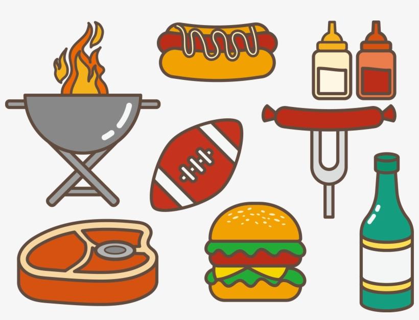 Hamburger clipart barbeque food, Hamburger barbeque food.