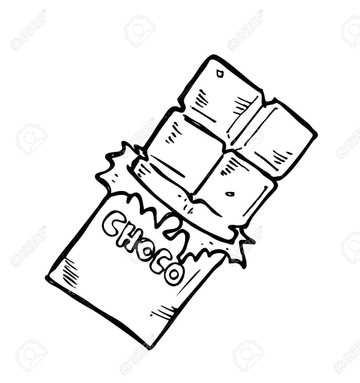 Chocolate bar clipart black and white 1 » Clipart Station.