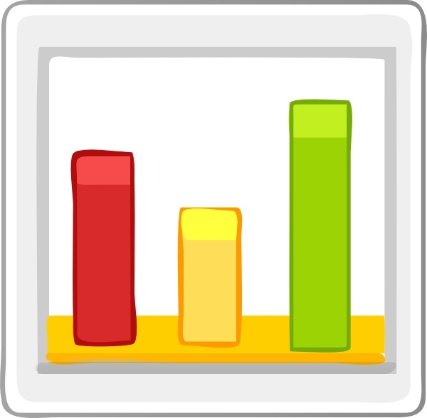 Bar Chart Statistics clip art Free vector in Open office drawing svg.