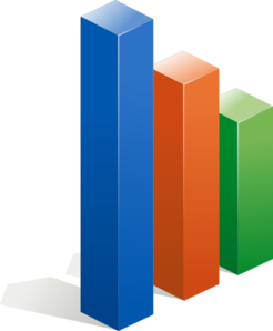 Bar chart clipart with transparent background.