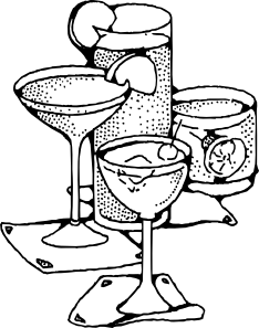 Bar Drinks Clip Art.