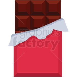 chocolate bar vector flat icon clipart with no background.