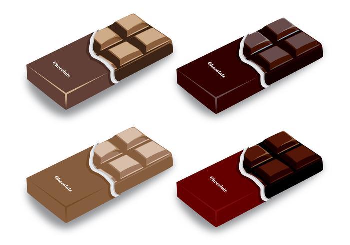 Chocolate Bar Vector Designs.