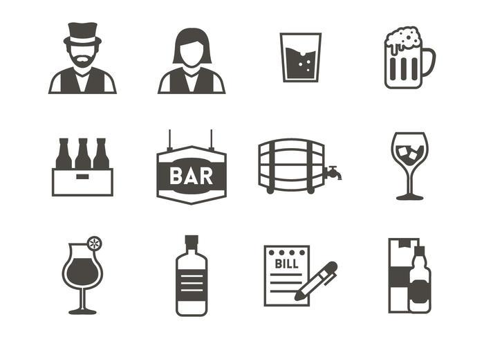 Bar Icons Vector.