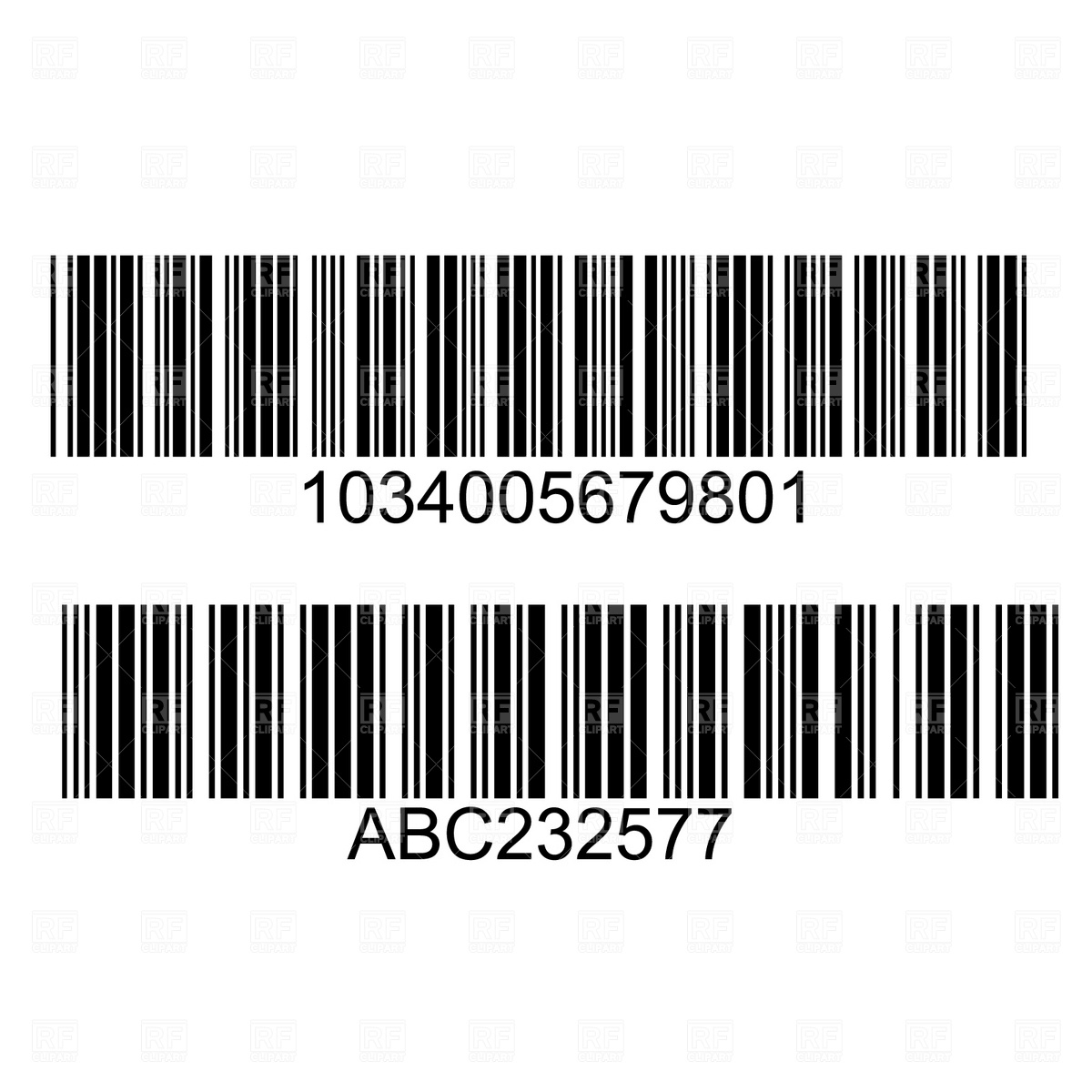 Barcode F Clipart.