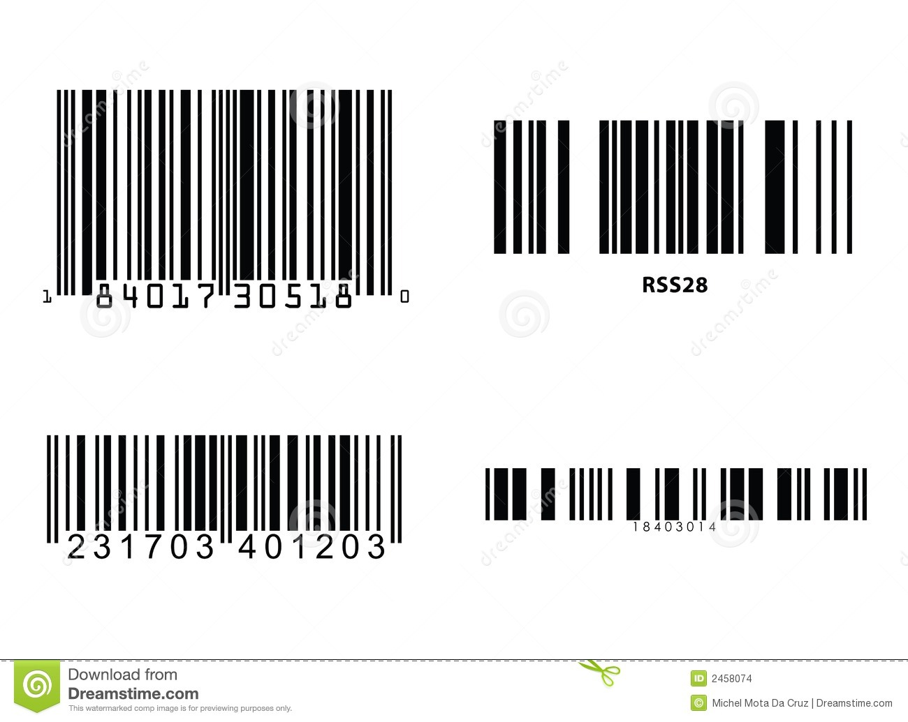 Barcode clipart free.