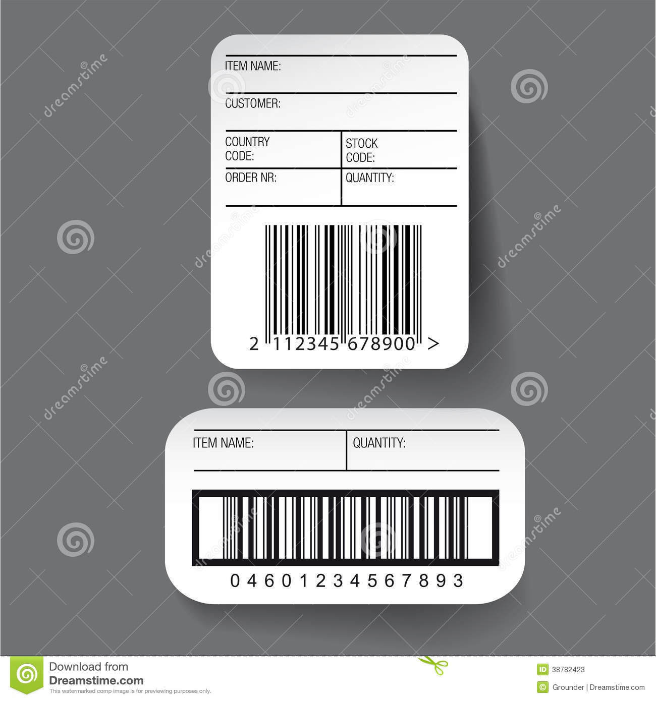 Barcode Label Template Stock Illustrations.