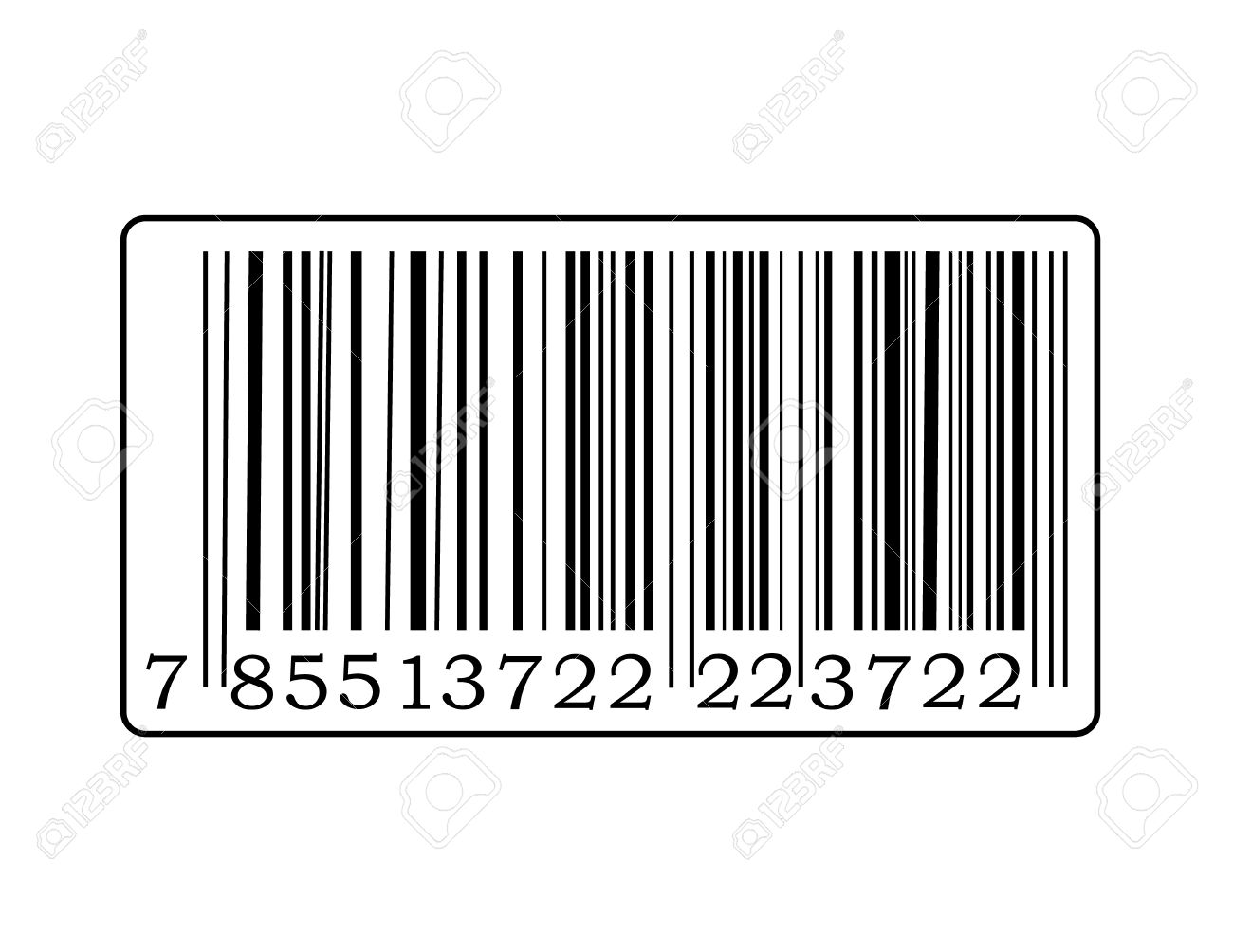Detail Of Barcode Label With Number. Royalty Free Cliparts.